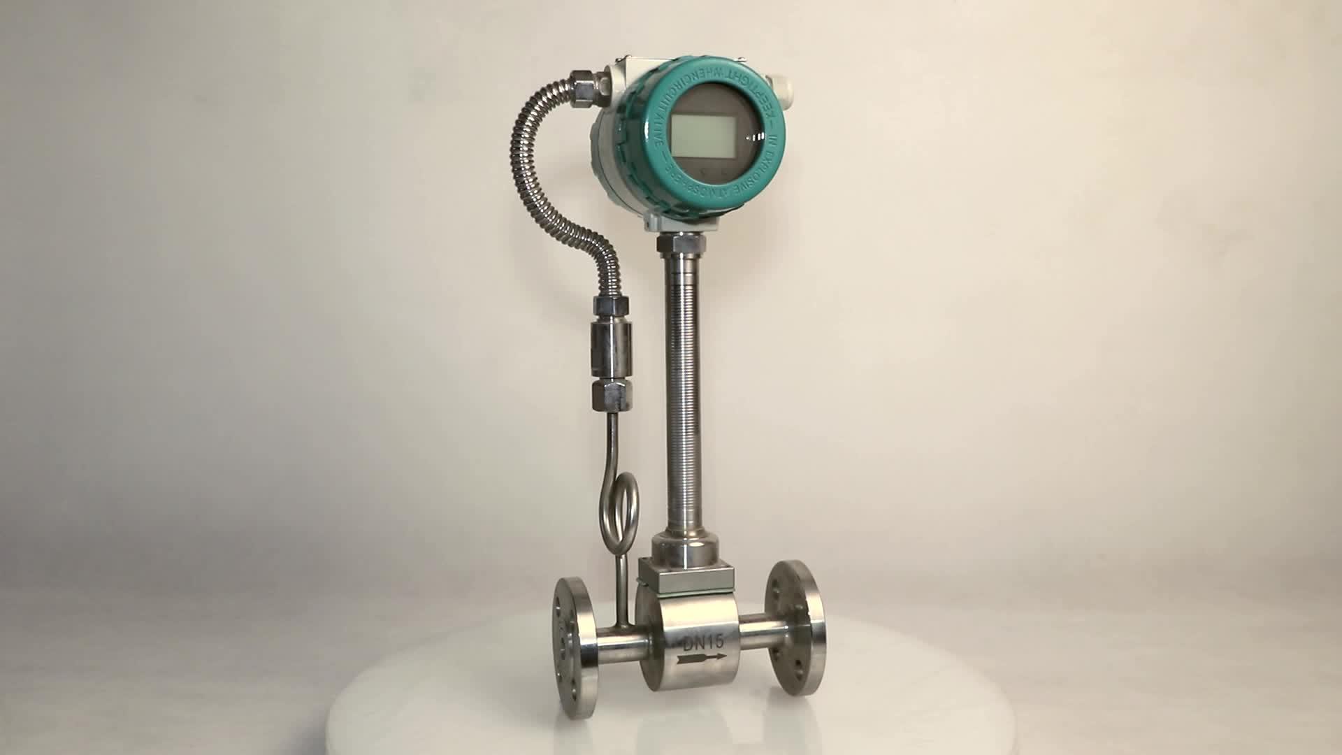 Di alta precisione digitale da stiro a vapore a gas liquido misuratore di portata vortex