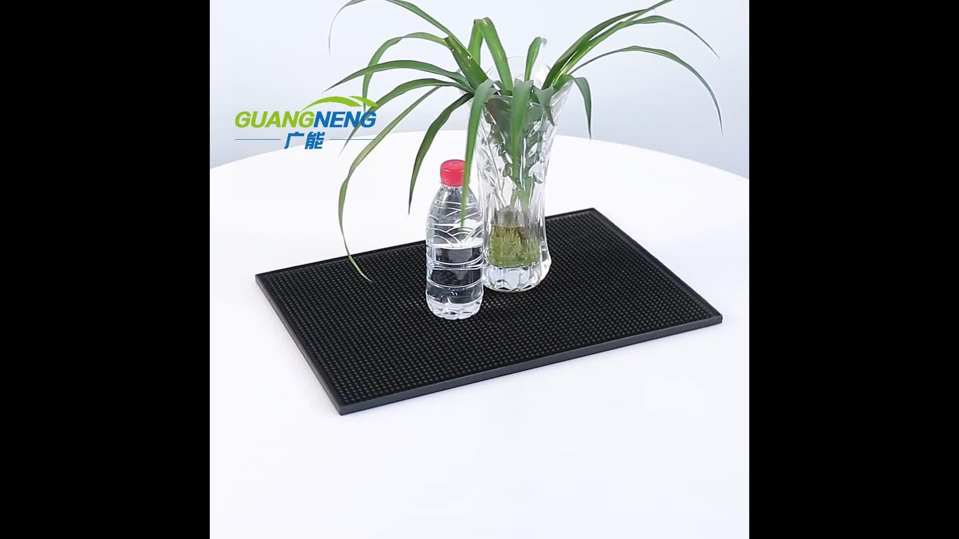 Glas Coaster Mat/Bar Koffie Winkel Schokabsorberende Rubberen Mat