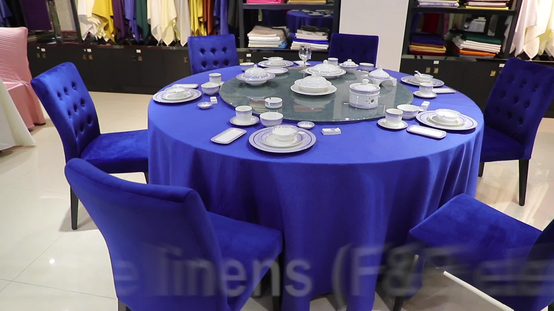 With Fringe Embossed Vinyl Crochet Tablecloth Round