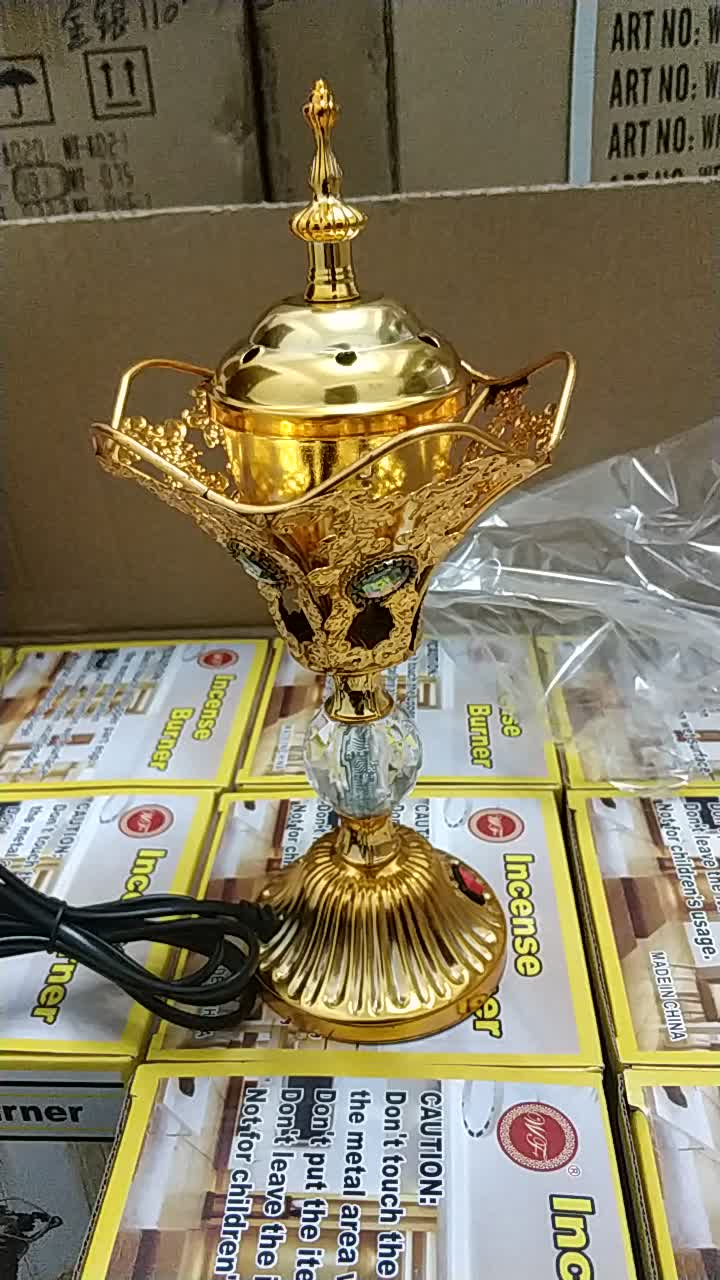New product OEM design arabic metal electric incense burner wholesale