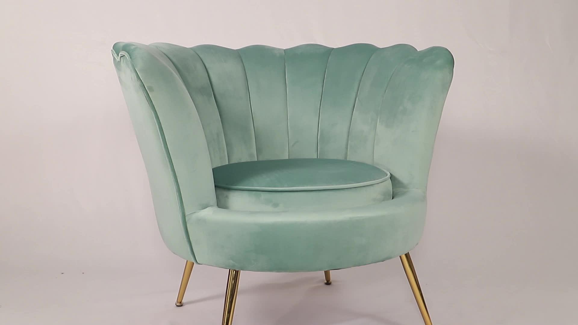 Amazon Hot Sales royal  Luxury Upholstered Velvet Floral Loveseat sofa with Metal Legs