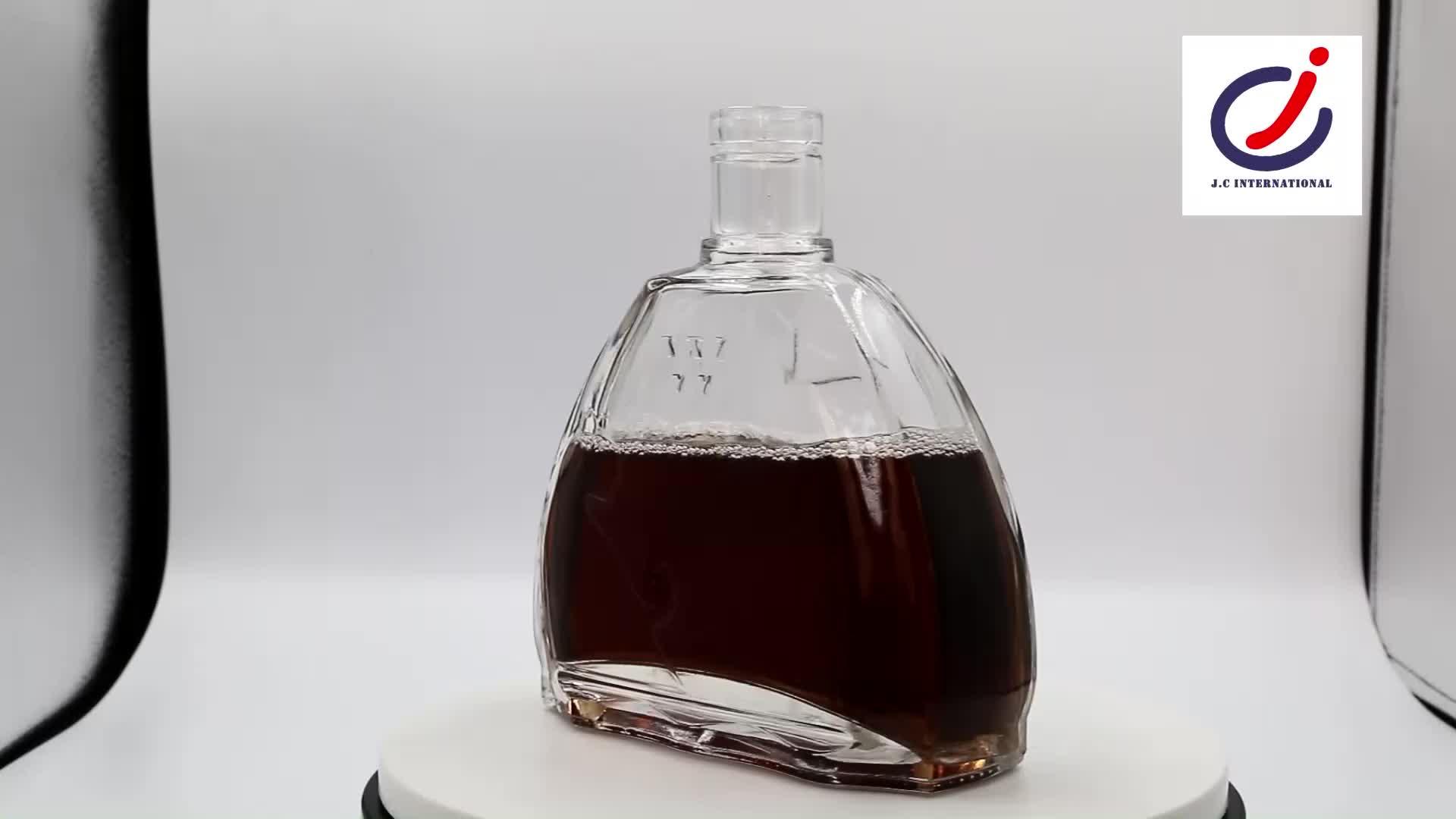 850 ML Datar Shell Bentuk Nyaman Menangani Permukaan Halus Botol Kaca