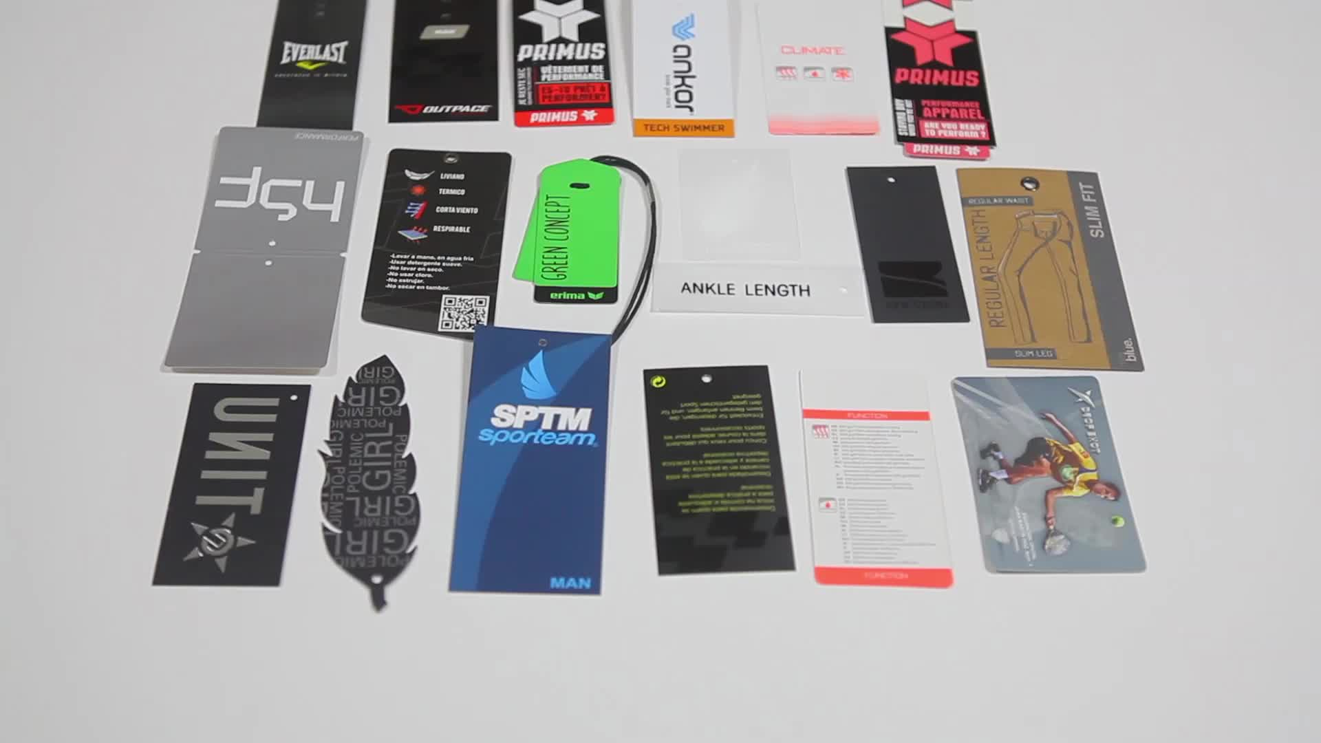 Luxury fancy hangtag clothing label design printing for garment