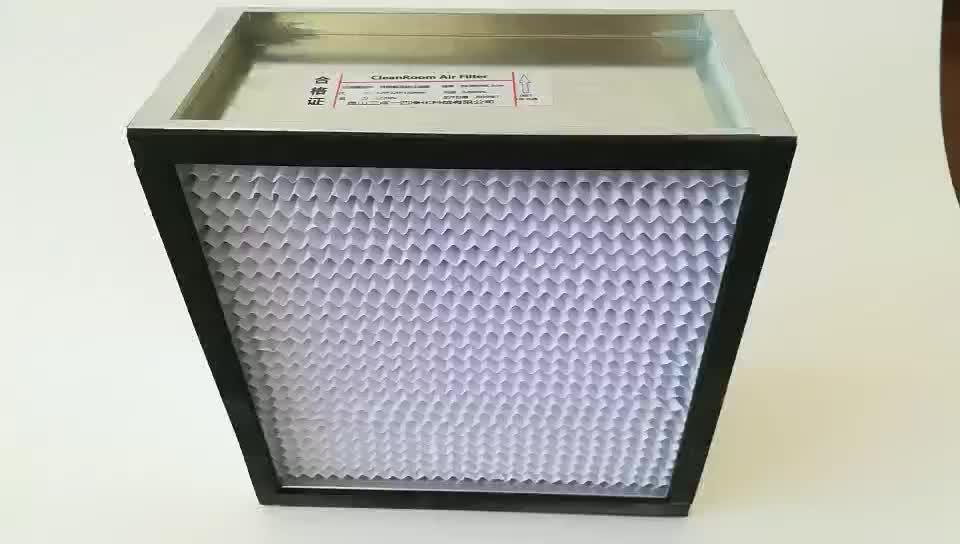 Produsen Centiz Volume Udara Yang Besar M-HI HEPA Partisi Aluminium Debu Bersih Filter Udara