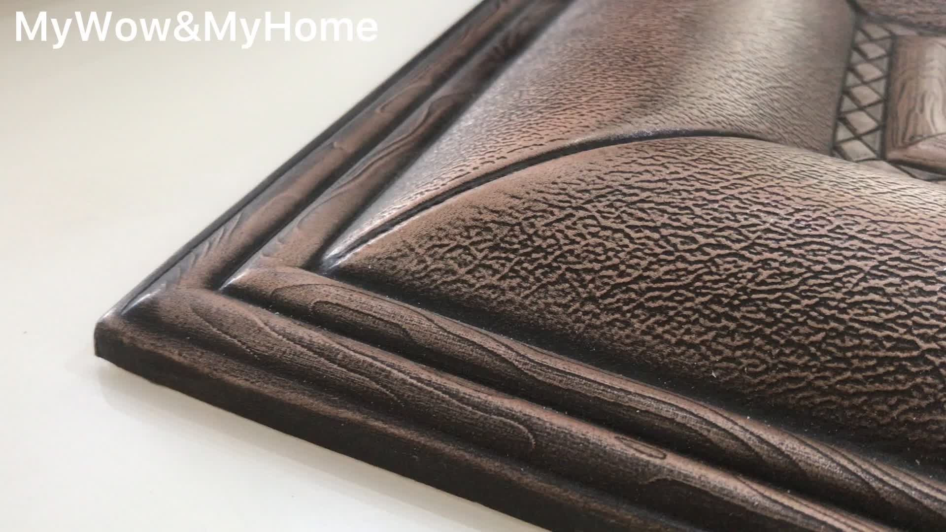 Popular 3D PU Leather Wall Panel for interior decoration
