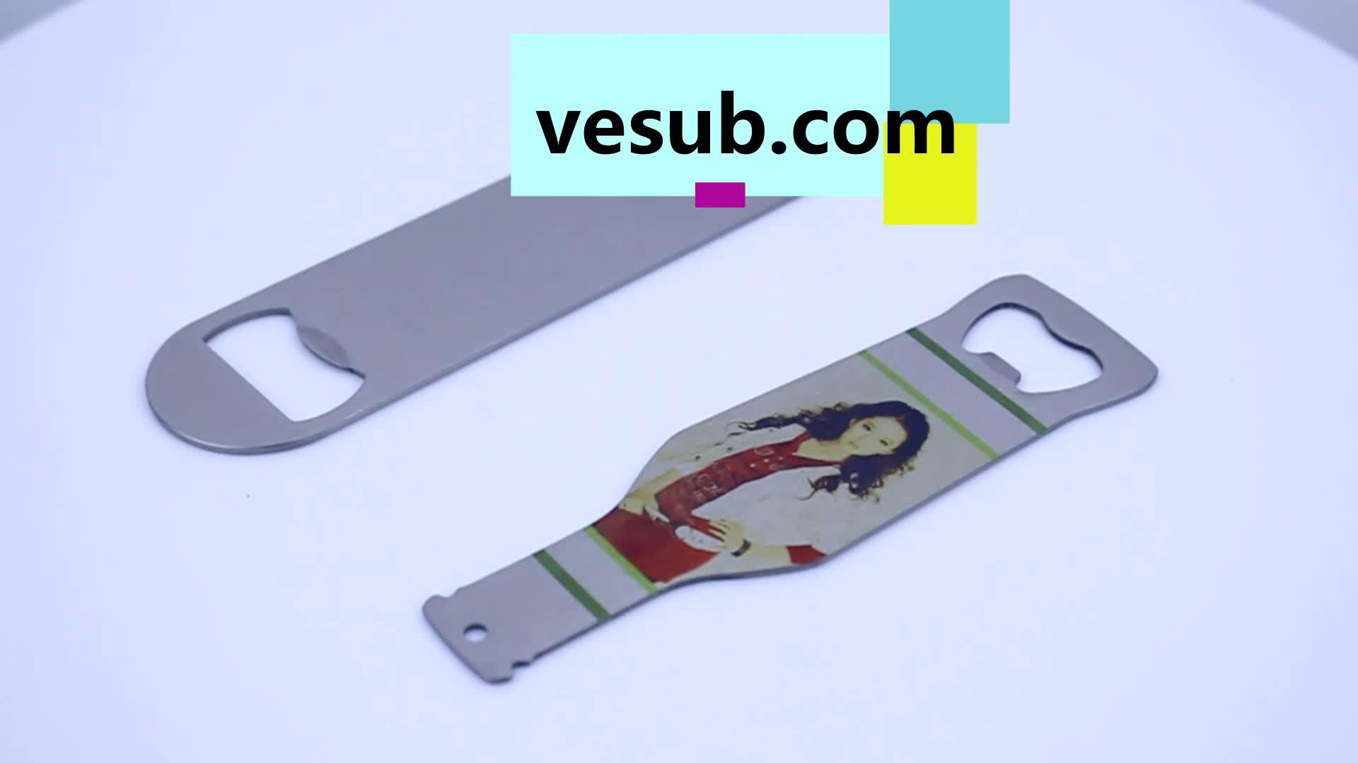 Sublimasi Pembuka Botol Stainless Steel Bar Pisau Kustom Ukiran dan Teknologi Laser