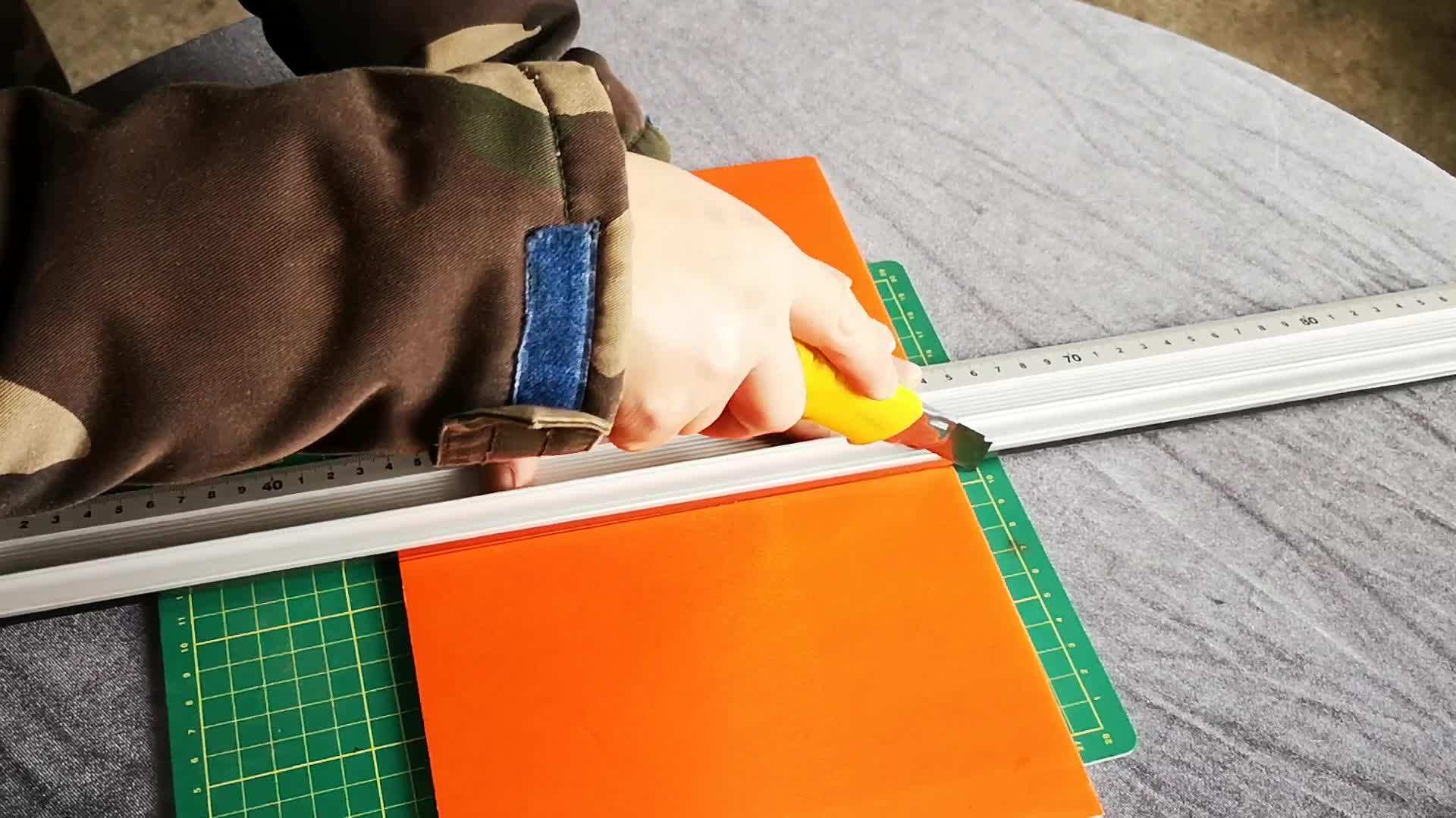 Sekolah Lurus Penggaris Aluminium Economic Safety Cutting Penguasa untuk Materi Iklan/Ekonomi Penguasa