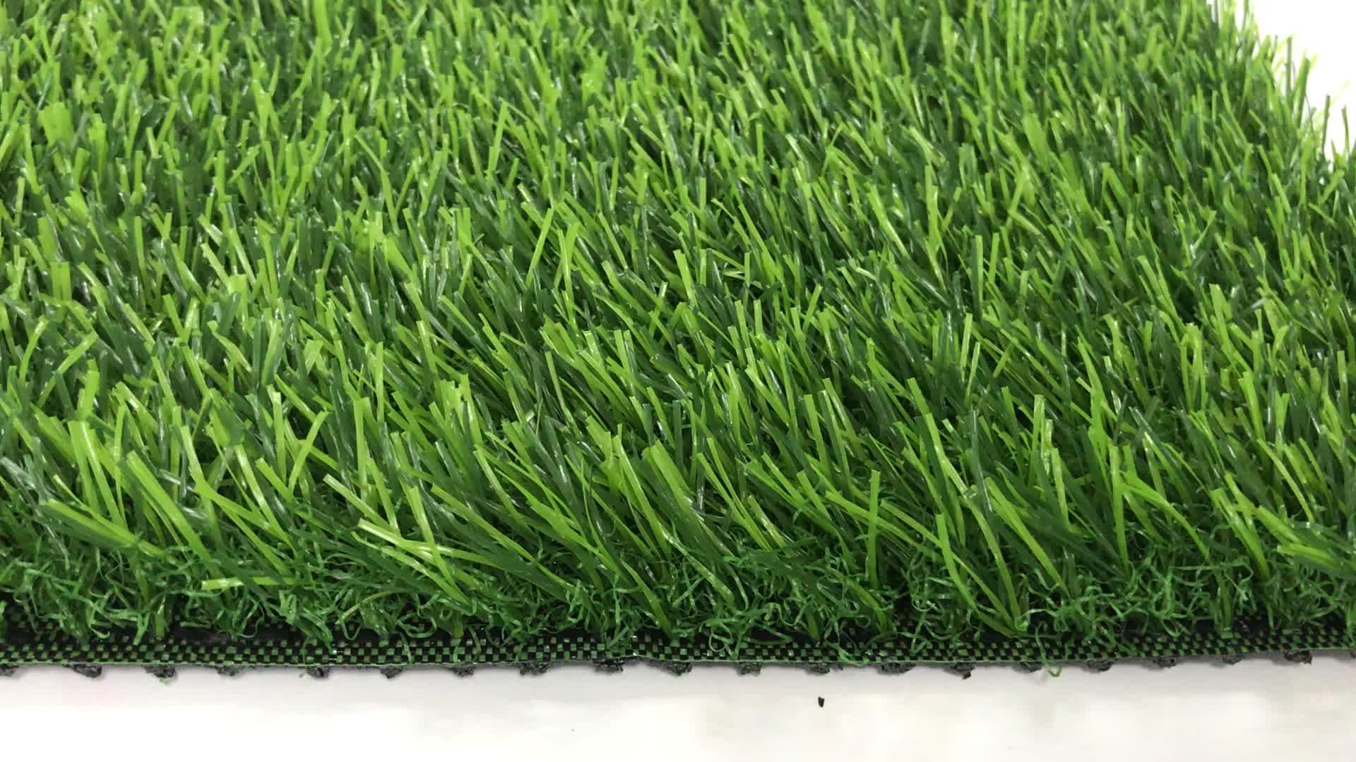 LW03 באיכות גבוהה C צורת דשא 38mm גינון דשא מלאכותי שטיח עבור גן משחקים