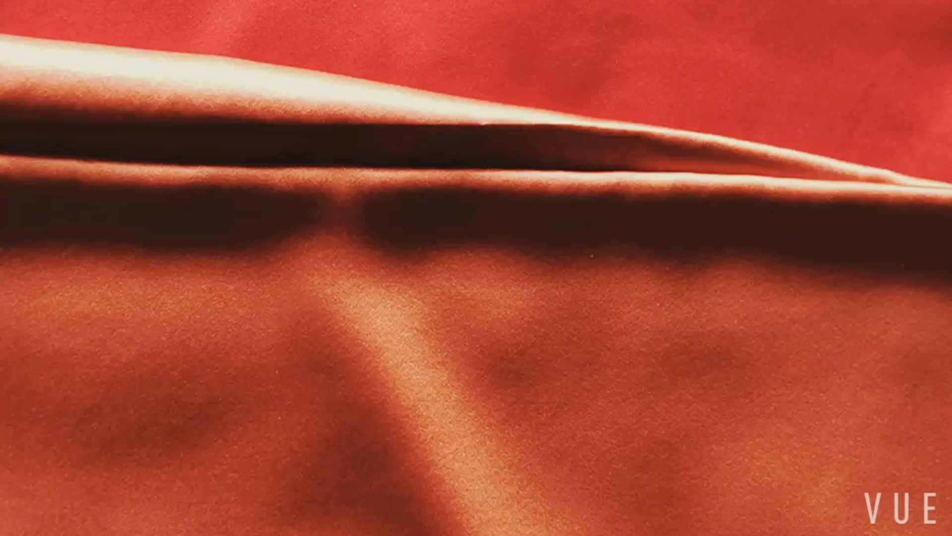 ファッショナブルなとセクシーなサテンシルク生地スパンデックス高品質新河テキスタイル