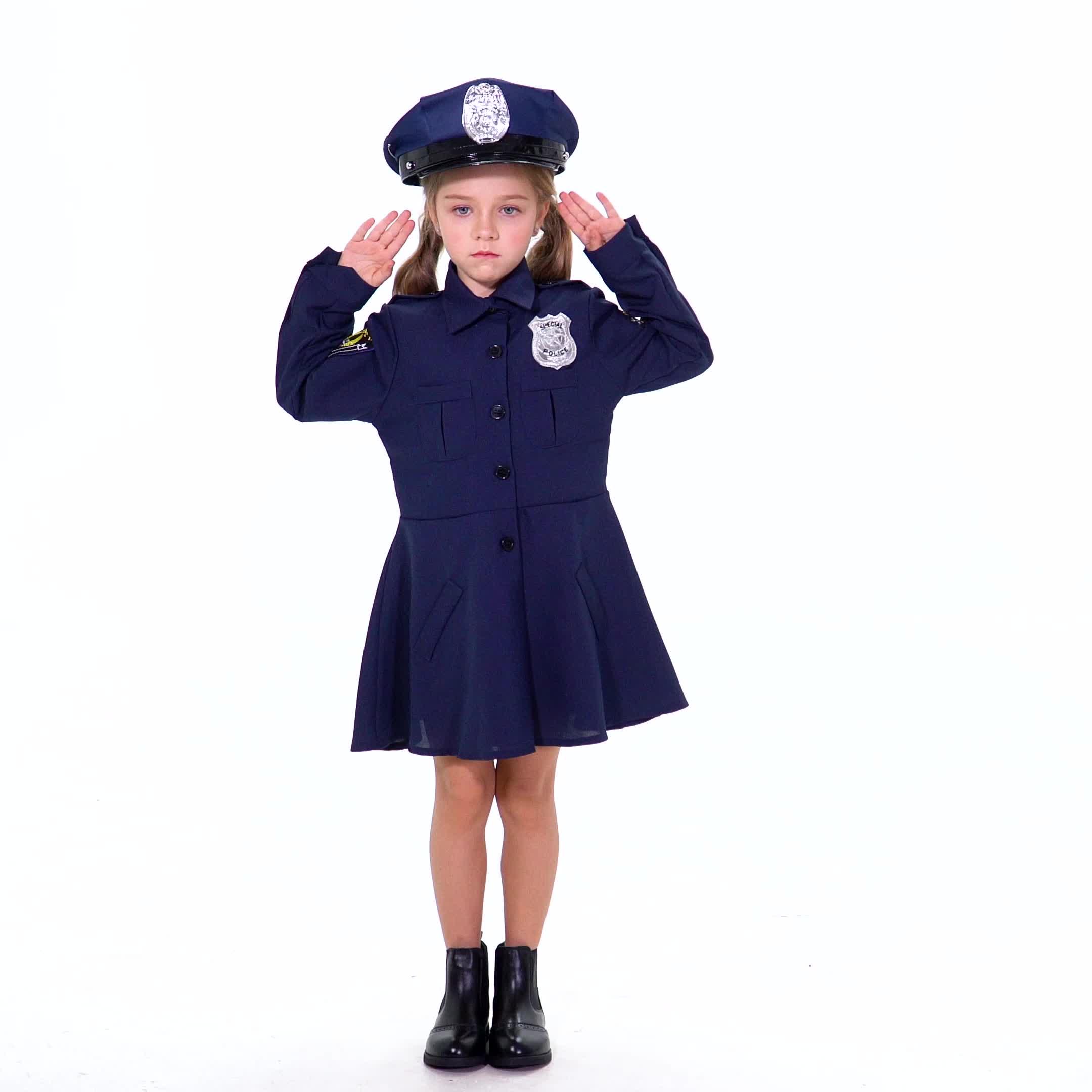 Venta al por mayor de la policía uniforme de policía disfraz de Halloween policía traje de los niños