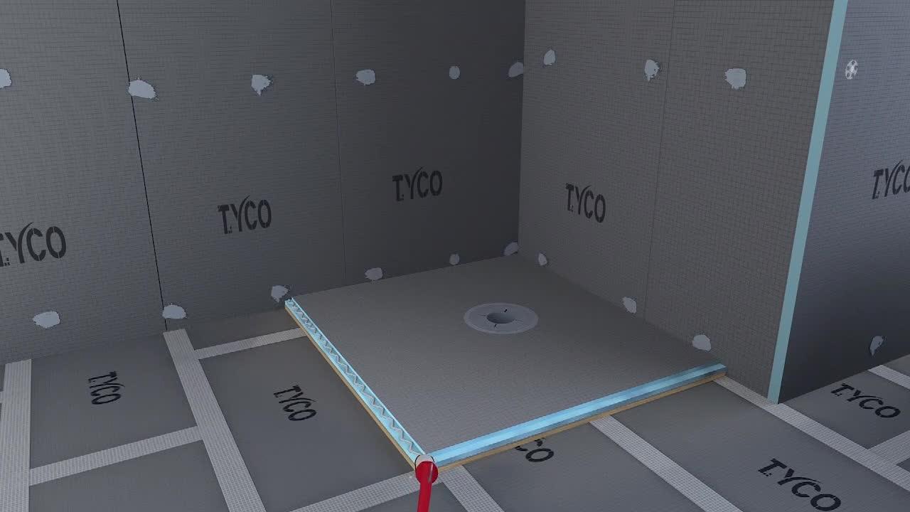 방수 재료 샤워 바닥 욕실 트레이 600mm ~ 2000mm 라운드 선형 드레인