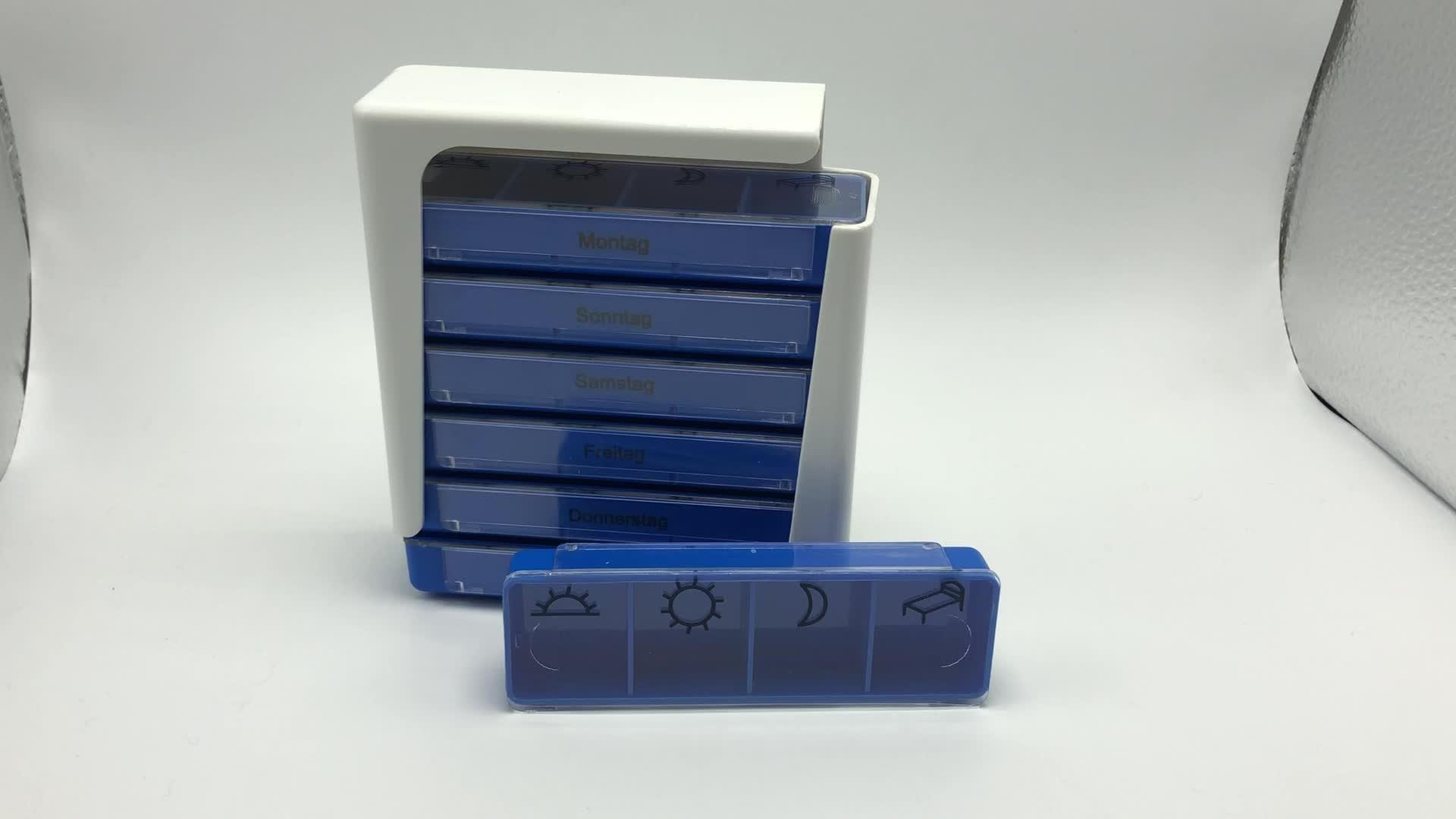 Precio de fabricación de caja de la píldora 7 días llegan nuevos 2019 Farmacia de plástico caja de la píldora
