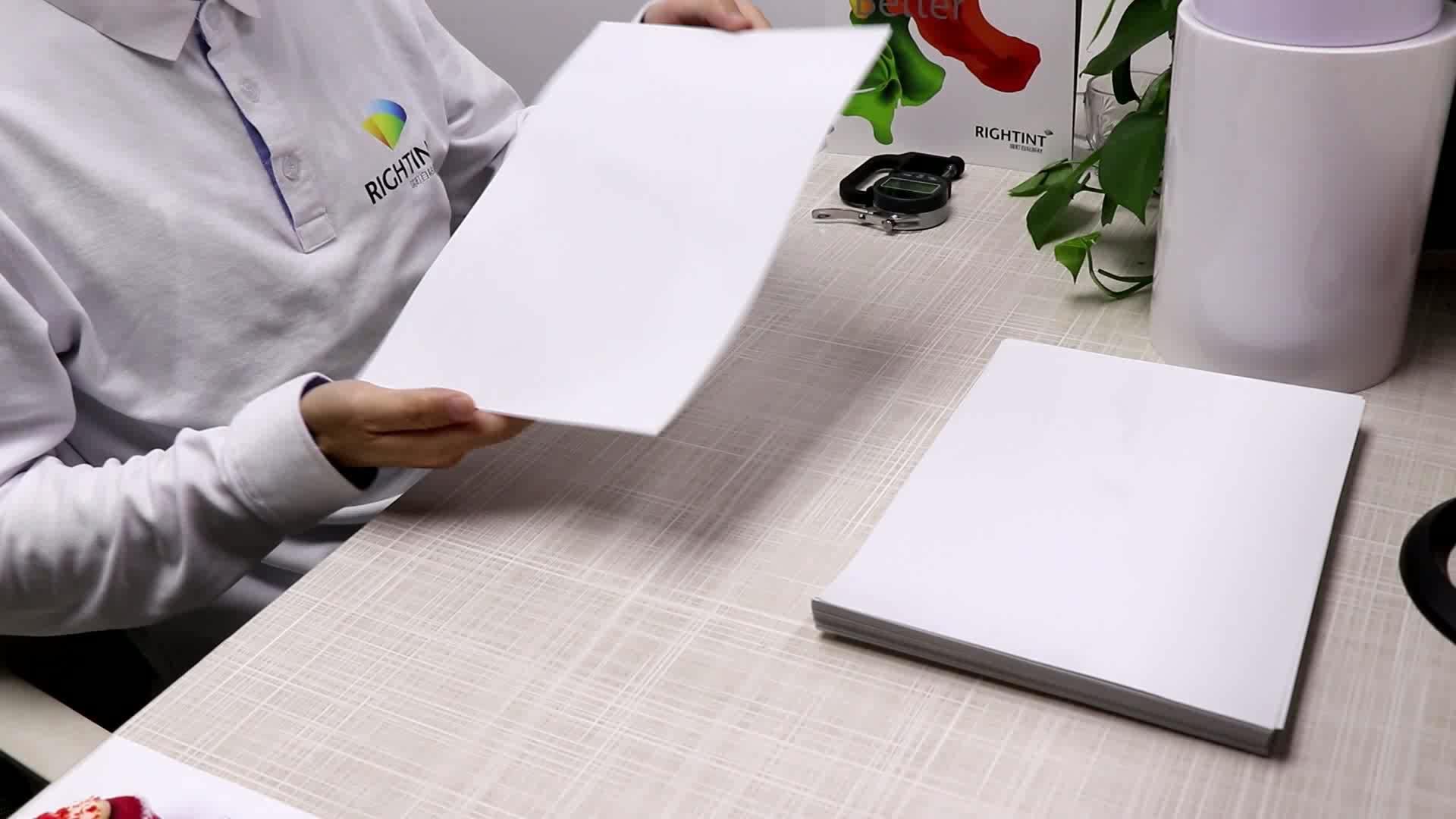 100mic trasparente static cling film IN PVC in fogli