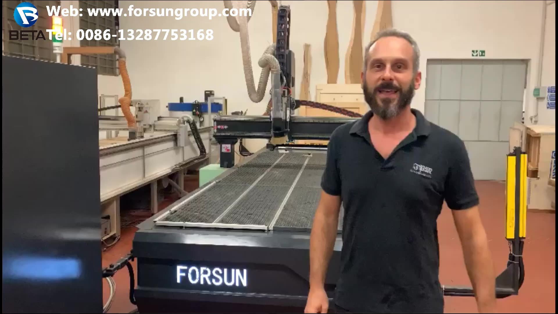30% discount FORSUN CNC  4 axis 3d cnc router woodworking machine 6 Heads 4 Axis Cylinder Wood CNC Router