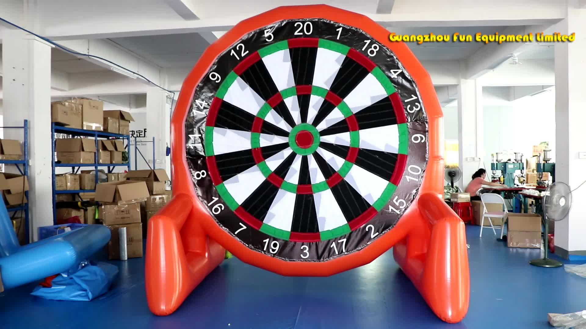 2.5mH Double sides PVC inflatable soccer dart board inflatable foot darts games inflatable sticky darts for sale