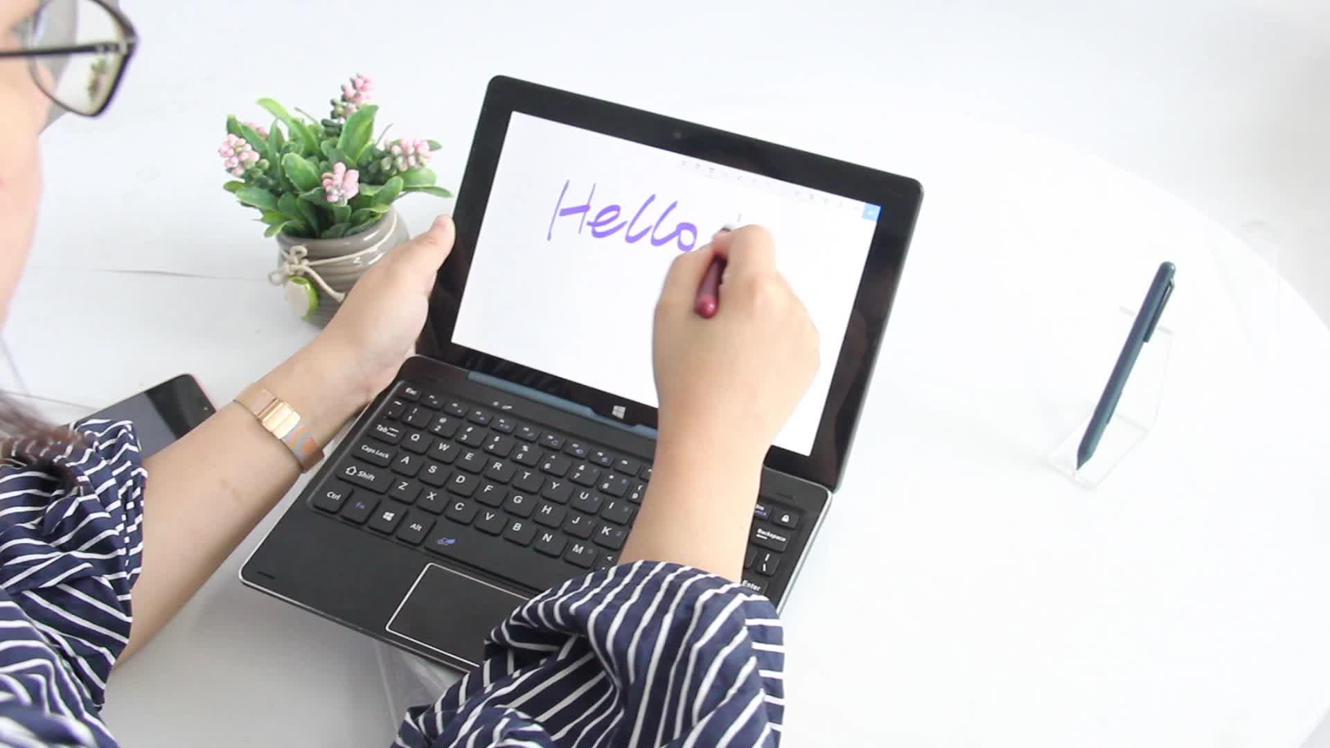 10.1 นิ้ว 2 in 1 keyboard เน็ตบุ๊กคอมพิวเตอร์ z8350 IPS แล็ปท็อป Win 10 mini Tablet PC
