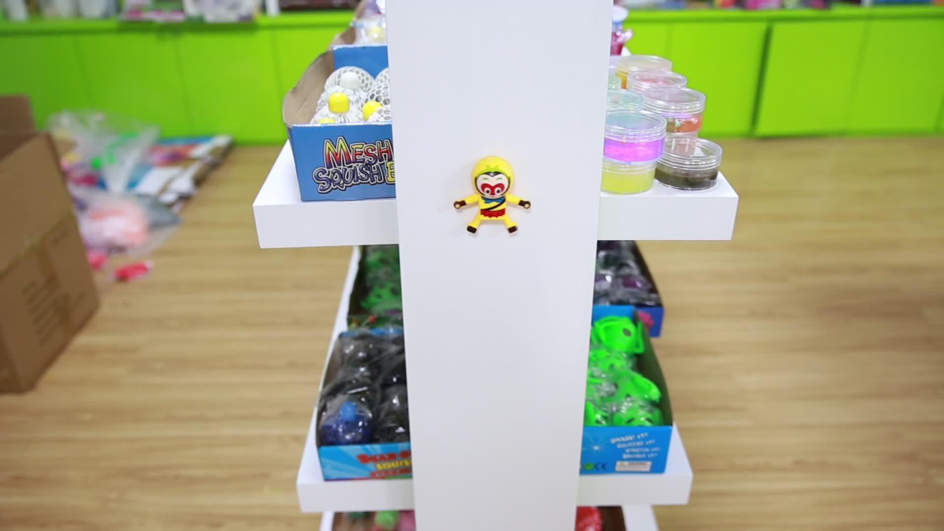 Carta della bolla giocattolo Spiderman Monkey King Appiccicoso Parete di Arrampicata UNA Capriola Action Figure Giocattoli Per Bambini