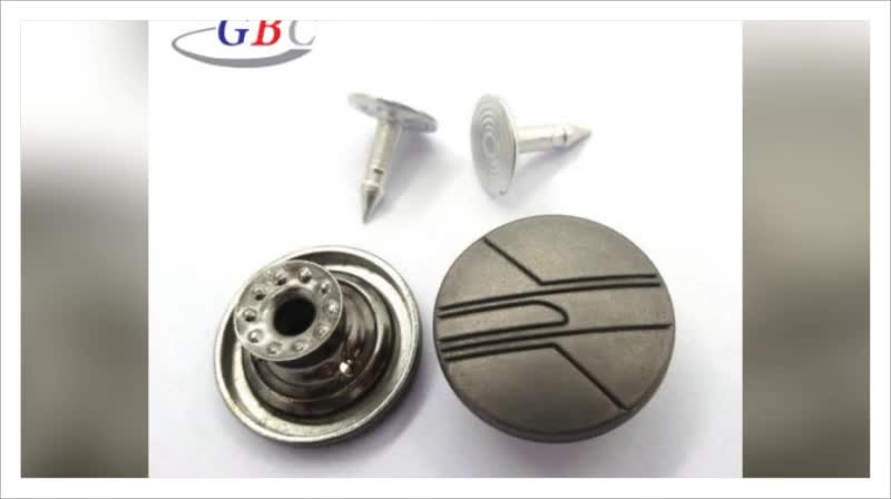 New stainless steel metal cover button