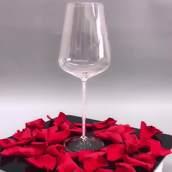 720ml Elegant Handmade Clear Heat Resistant Borosilicate Goblet Wine Glass