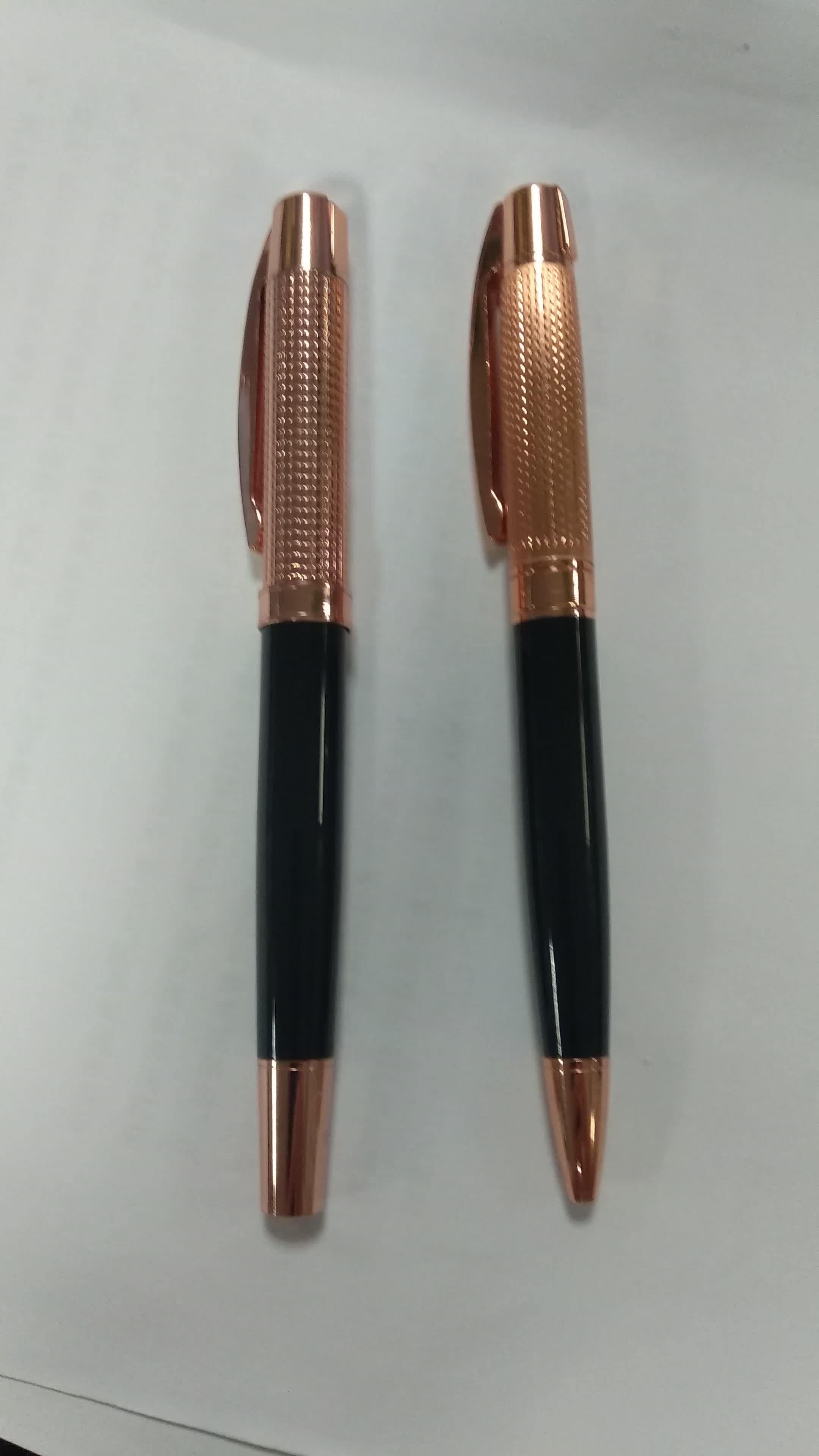 Anpassbare rose gold metall roller kugelschreiber für luxus geschenk markt