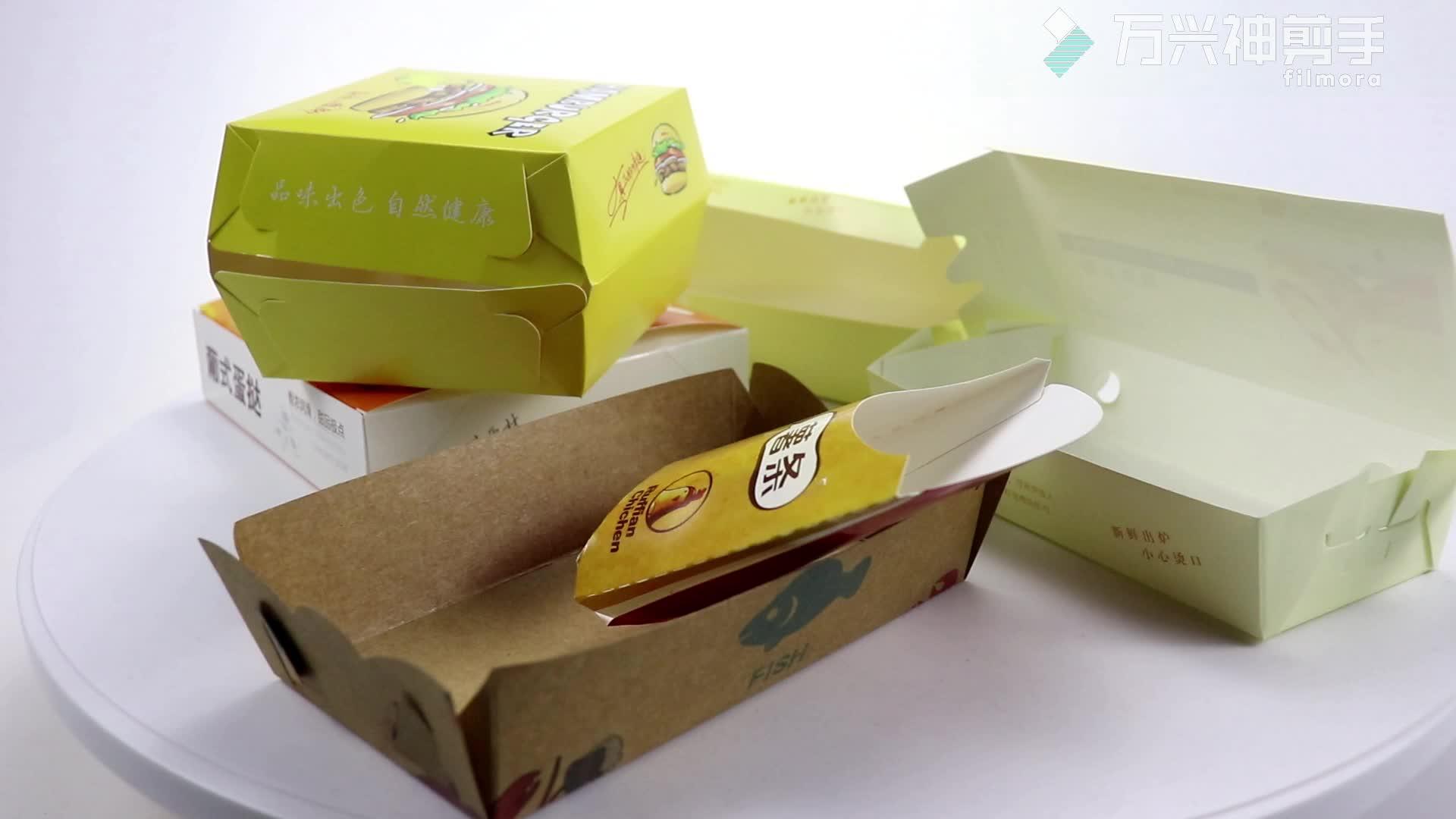 Kustom Grosir Dicetak Panas Cepat Pemesanan Makanan Panggang Ayam Goreng Kemasan Kotak Kertas