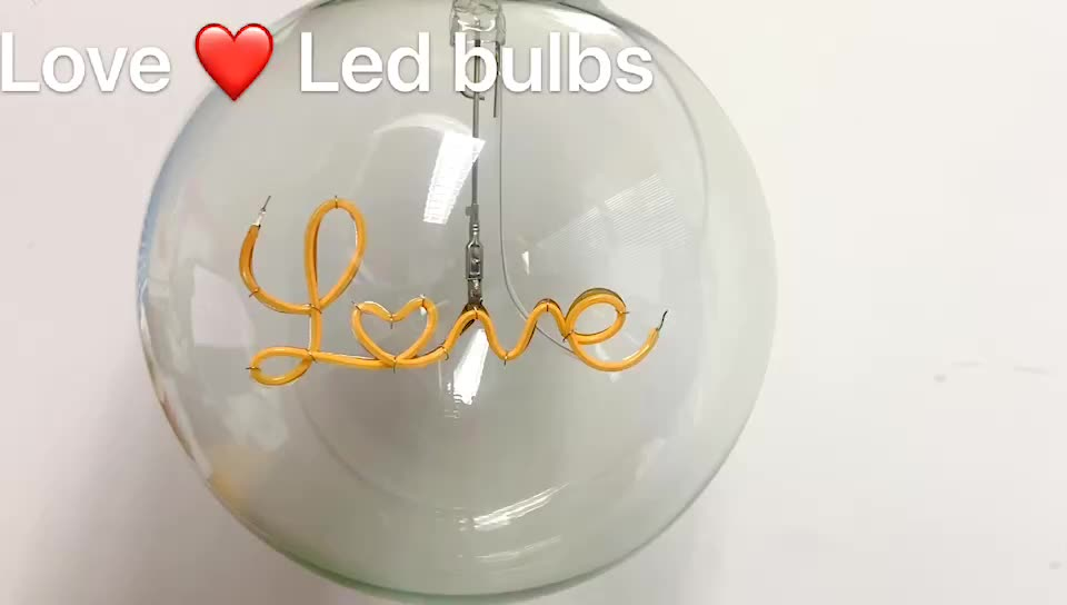LOVE DREAM HOME Letter Bulb decorative LED night lamp  Warm Light Antique Lamp Shaped Light