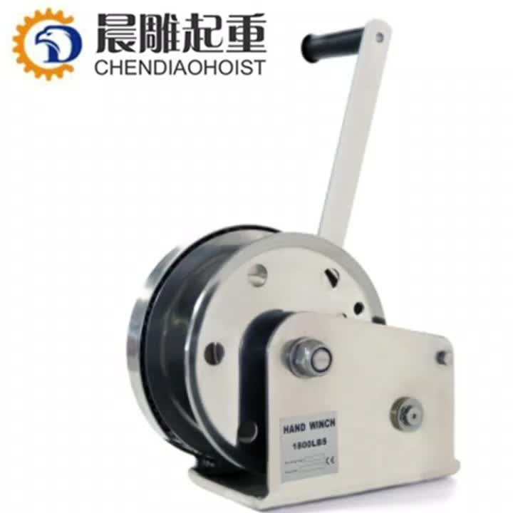 1800LBS 2600LBS 3000LBS Portable Hand Manual Boat Winch Galvanized Stainless Steel Winch