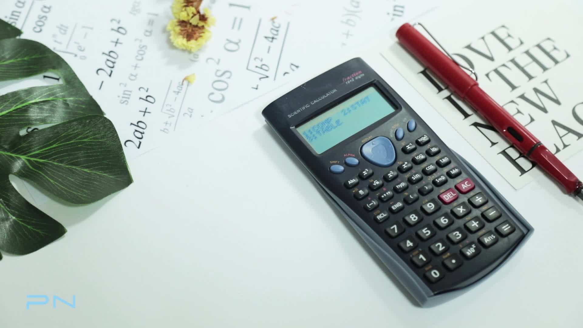 Custom School Multifunction lcd Display Screen Electronic Scientific Calculator for Student with Cover