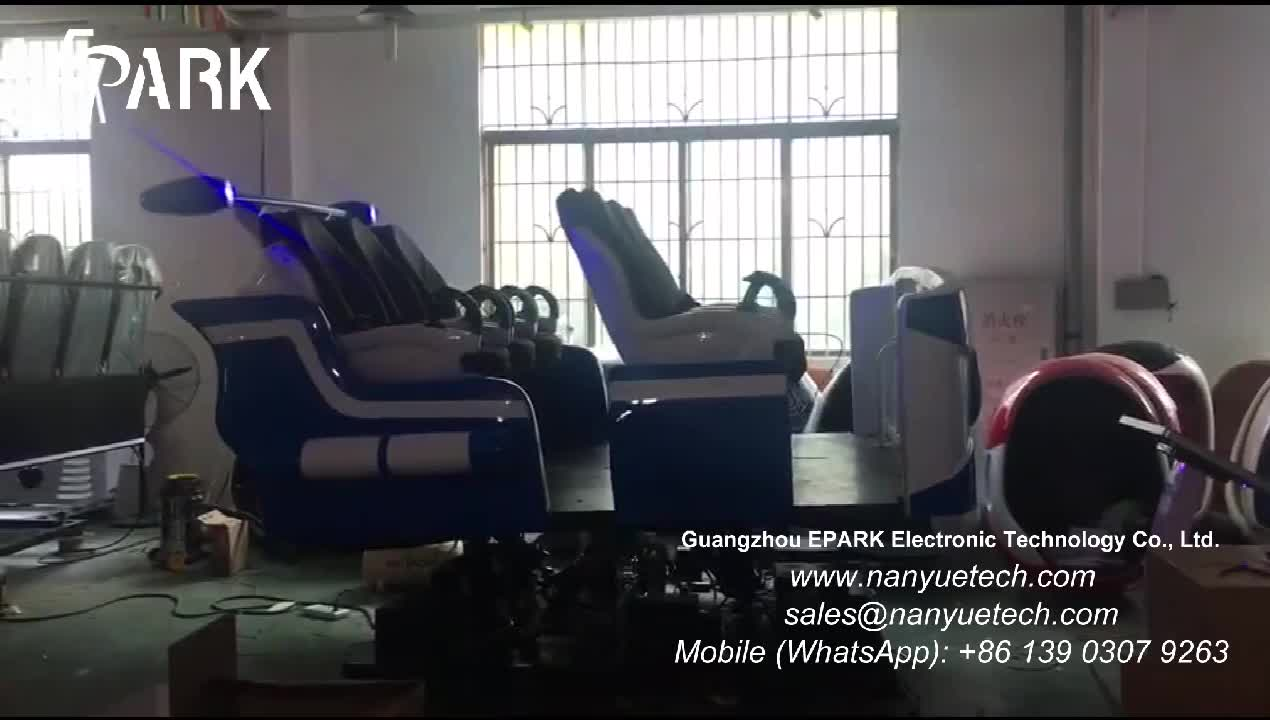 Motion chairs 9d vr Hydraulic Lighting System virtual really 9D VR with 6 luxury seats Dynamic platform
