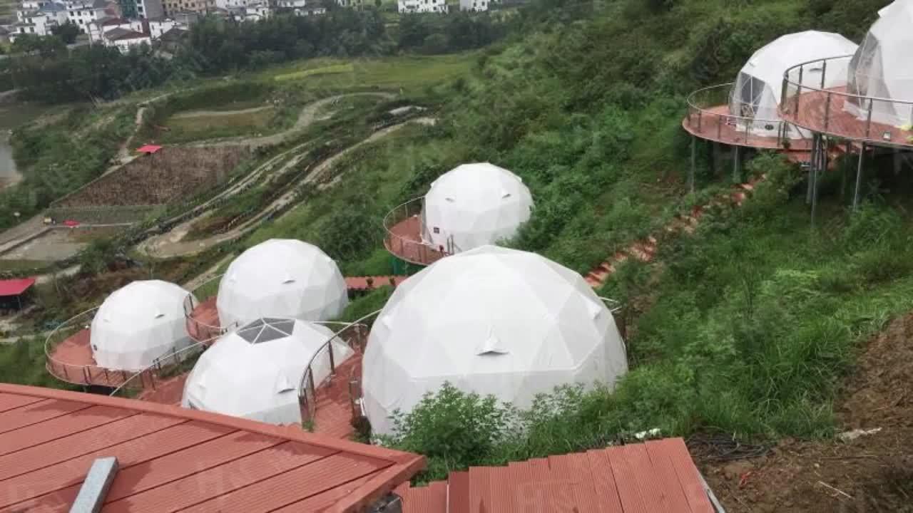 Rõ Ràng Mái Lều Tuyết Kính DOMO Nhà Ngoài Trời Trong Suốt Vườn Dome Lều Để Bán