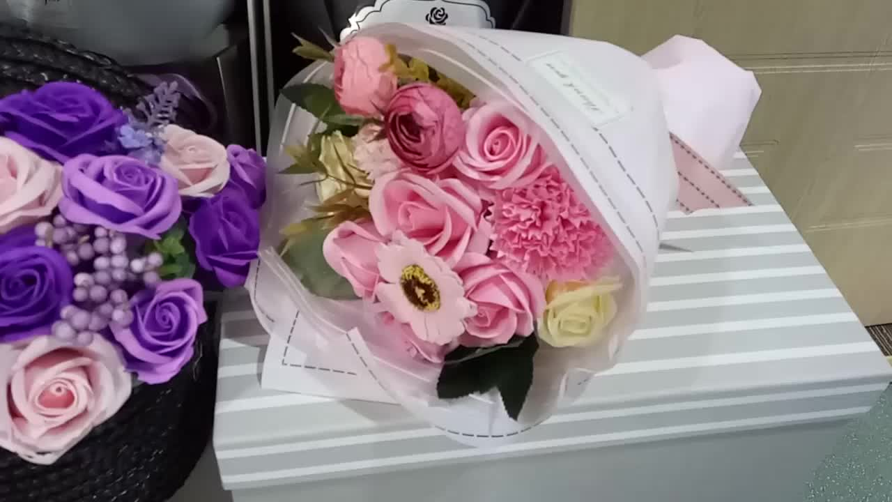 Best Selling New Product Wholesale Soap Flower Bouquet For Cheap