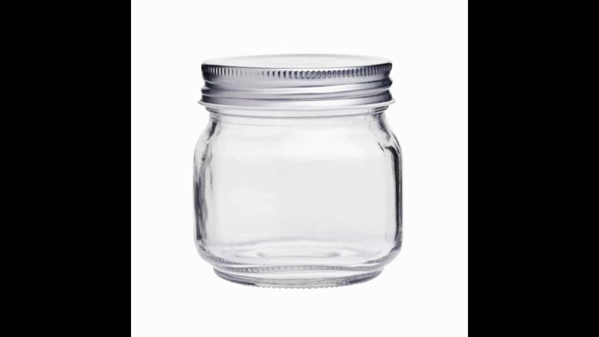250ml chiaro conserviera cibo vetro muratore vaso con tappo a vite