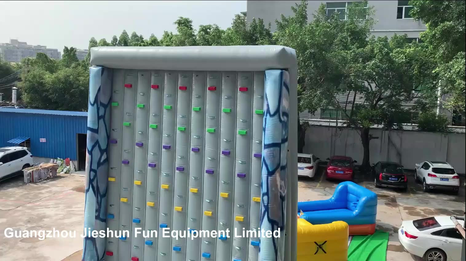Factory wholesale 21ft rock climbing adults inflatable indoor PVC inflatable climbing wall on amusement park