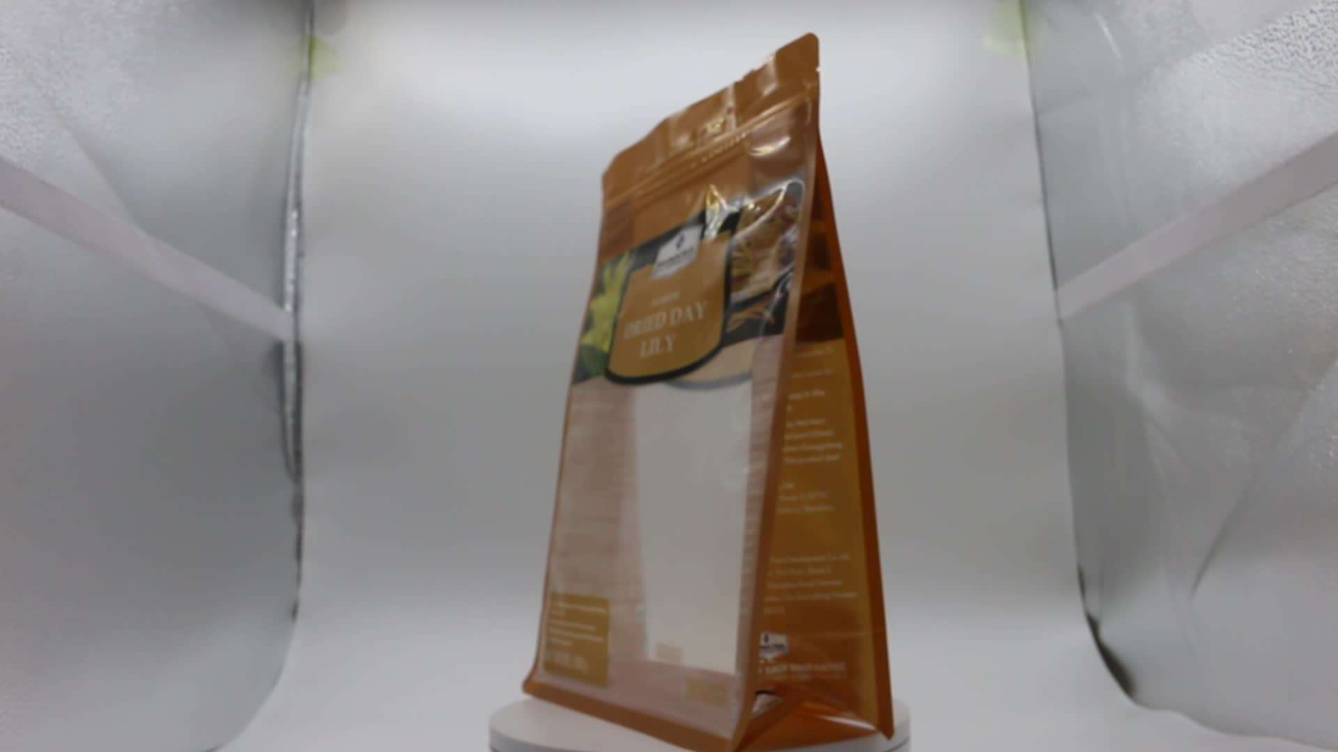 Biodegradable resealable Ziplock Plastic Food Packaging Bag for pet