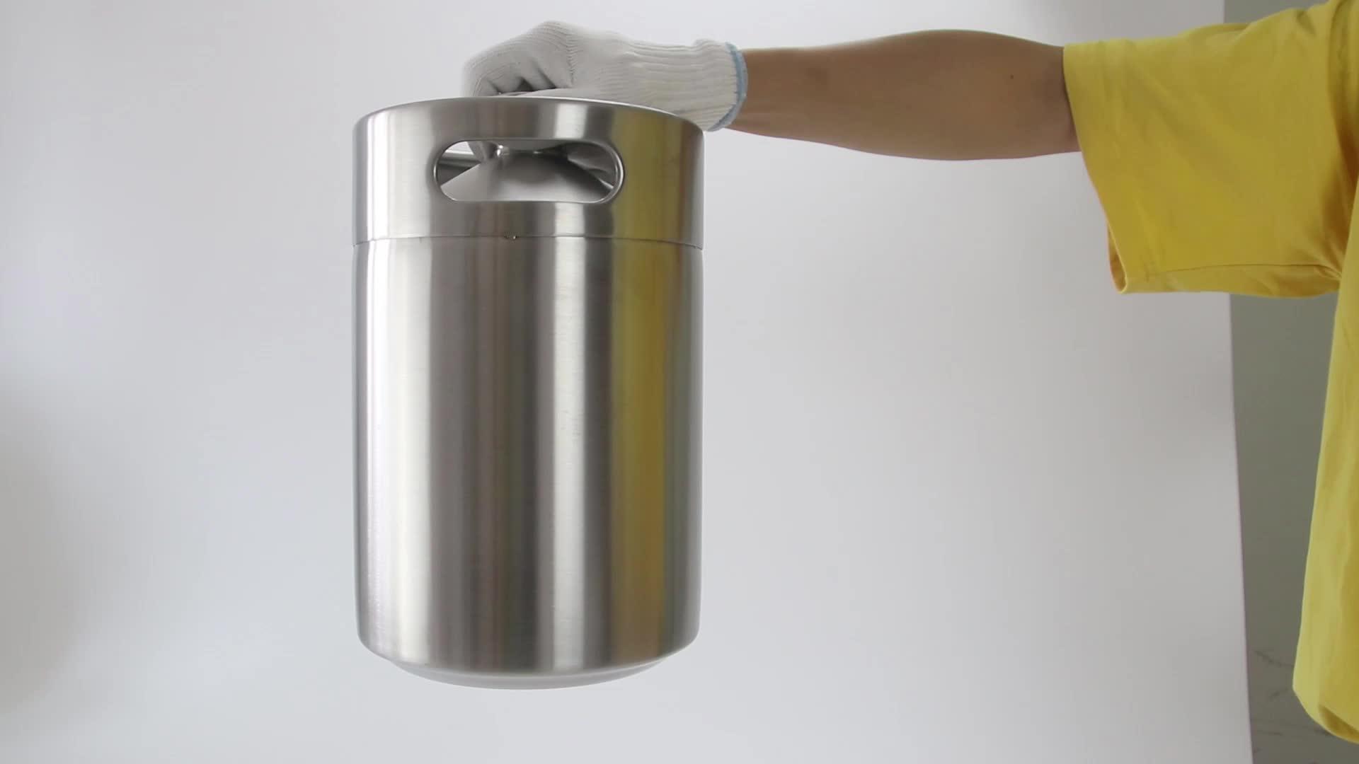 Homebrew Mini Keg 2L Paslanmaz Çelik Bira Growler