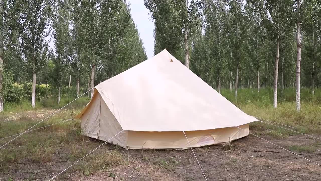 Фабрика OEM продукт 3/4/5/6/7 м семейная кемпинговая конусовидный навес хлопок холст для отдыха Брезентовая палатка