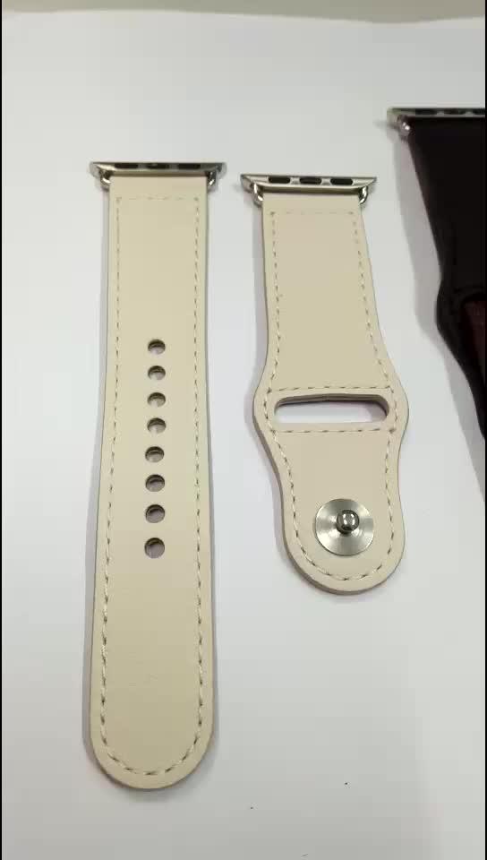 Customized logo 125x90mm length 제 genuine leather watch strap