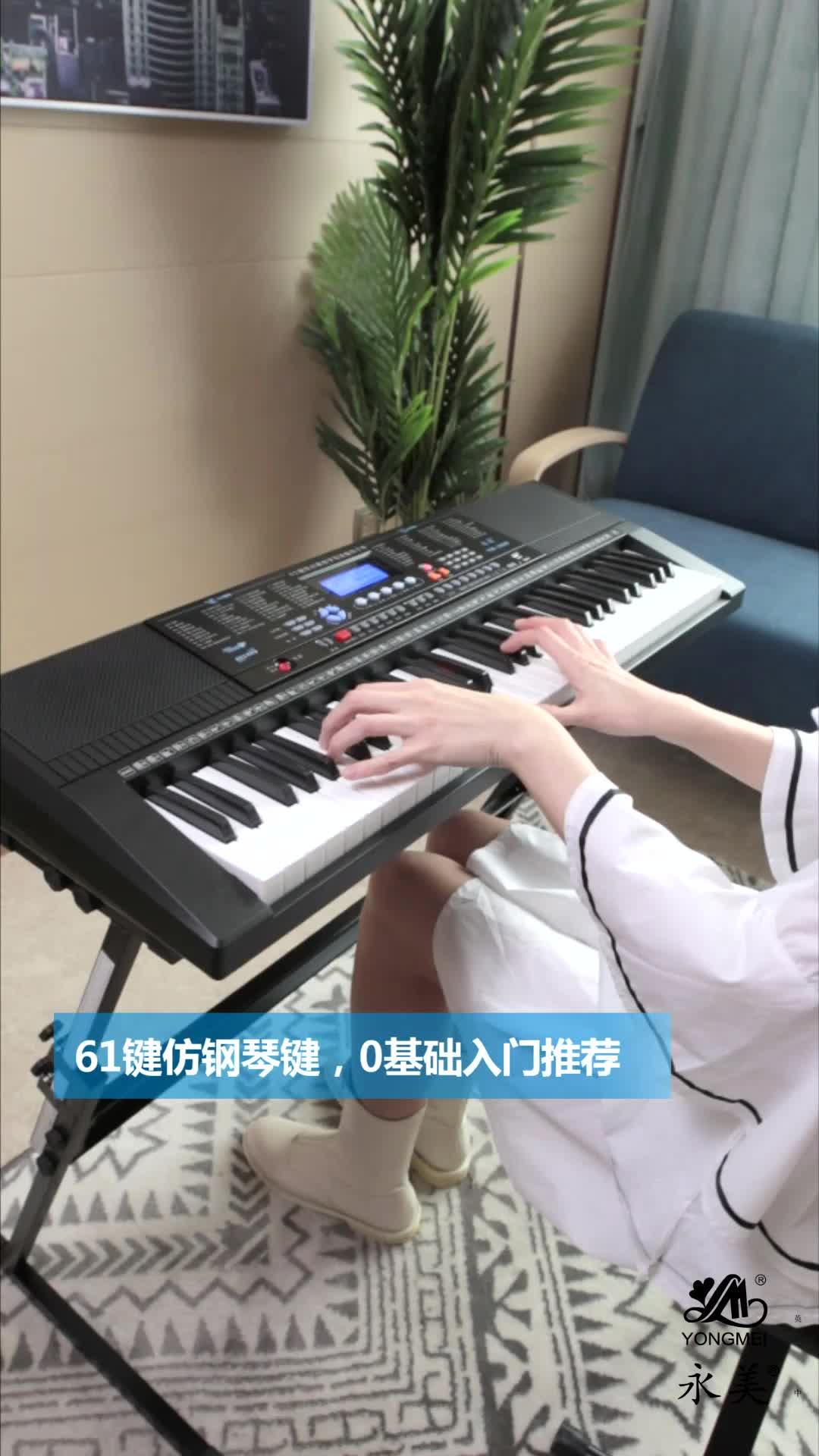 61 chiave Sintetizzatore/l'illuminazione Della Tastiera organo Elettronico/Strumenti musicali Giocattolo illuminato chiavi
