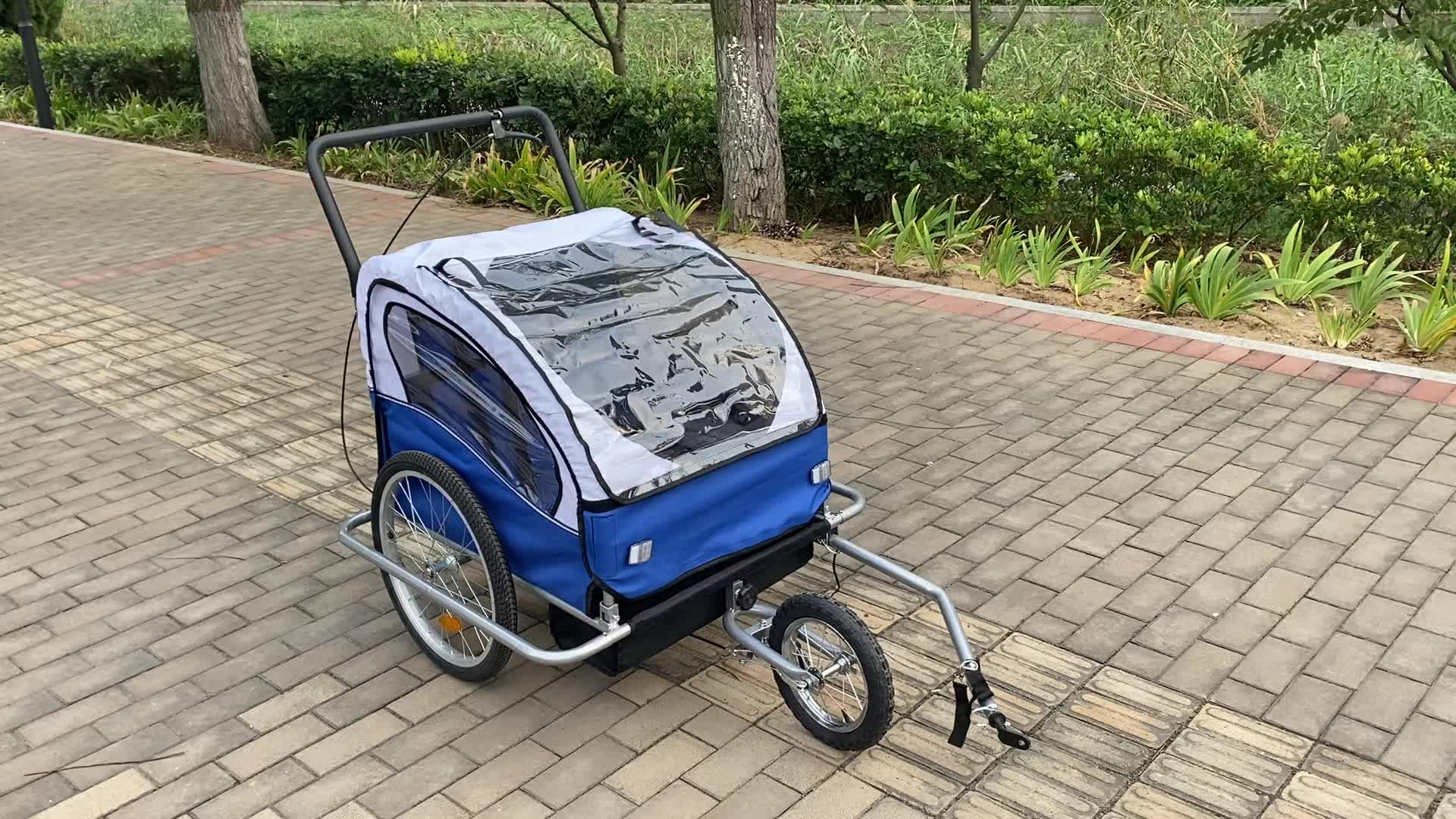 Fabrik Angepasst Freien Transport Folding Jogger Baby Kinderwagen 2 Sitz Utility Fahrrad Bike Kind Träger Anhänger