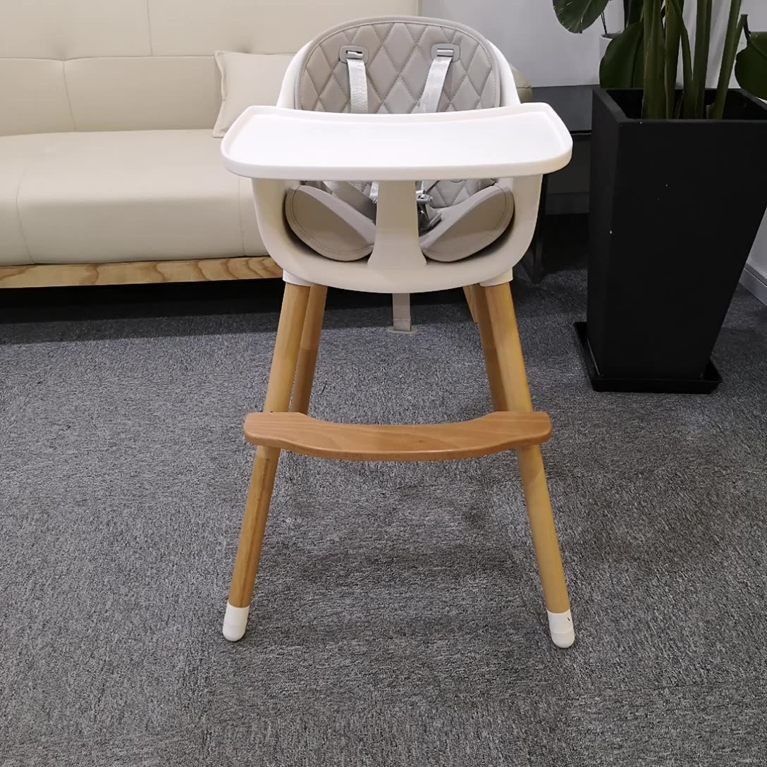 Height Adjustable Baby feeding chair with Cushion high chair
