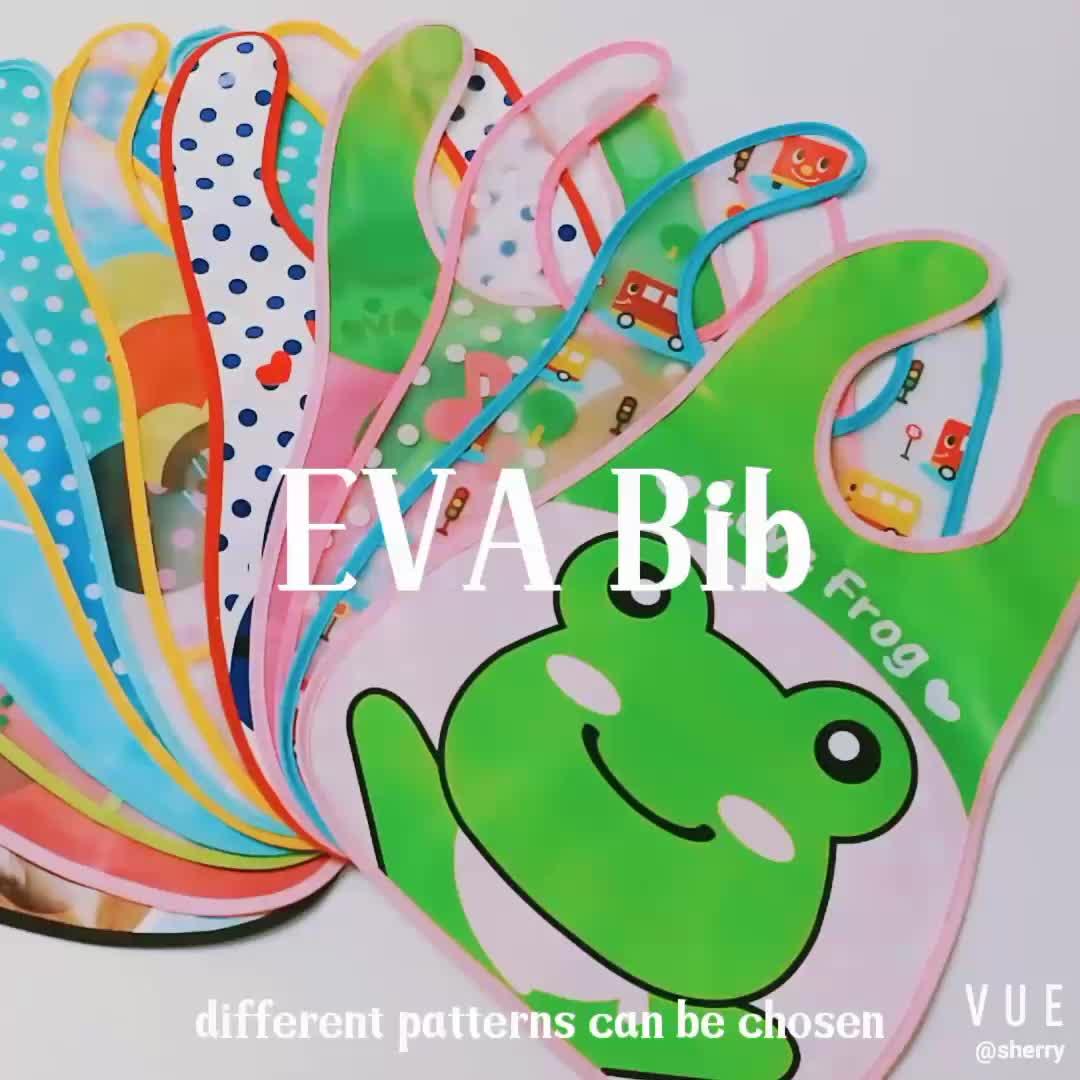 Capretti del bambino Impermeabile di Inverso EVA Bavaglini Panni Del Burp Alimentazione Mangiare Pittura Bavaglino Grembiule Grembiule Produttore
