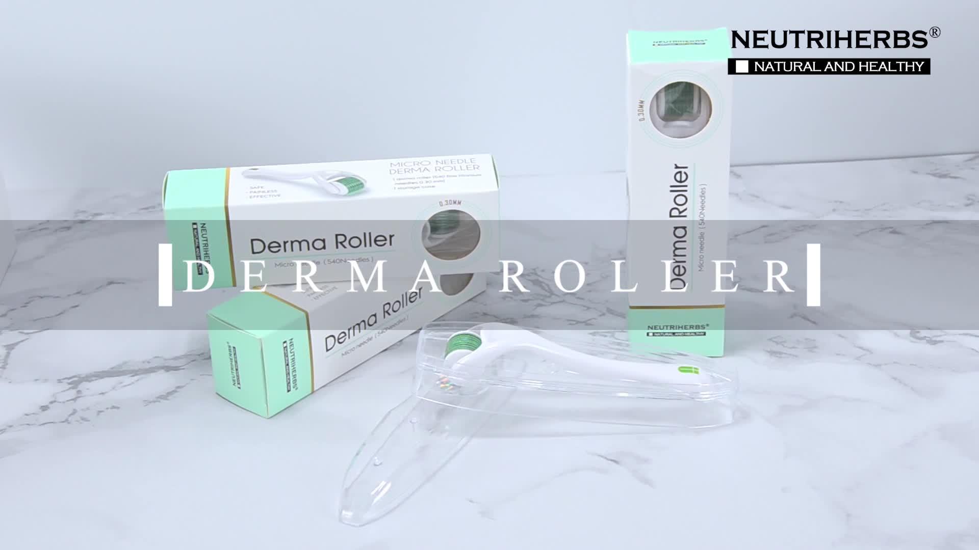 Profesional aguja Micro de titanio 540 Microneedling Dermaroller Derma rodillo