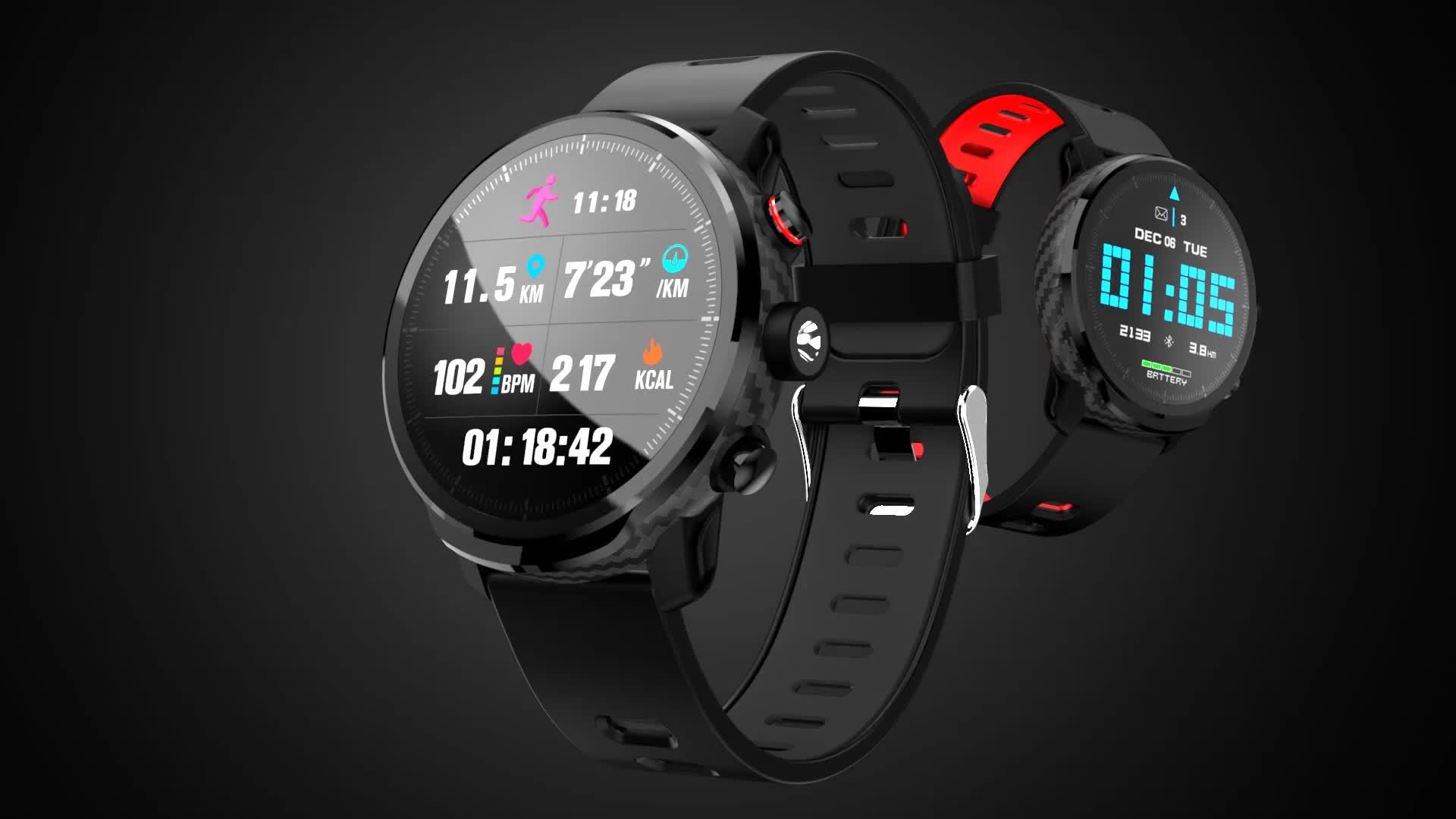 Microwear स्मार्ट घड़ी L5 उच्च गुणवत्ता पूर्ण टच दौर IP68 निविड़ अंधकार दिल दर बीपी चरणों खेल lemfo ब्लूटूथ स्मार्ट बैंड