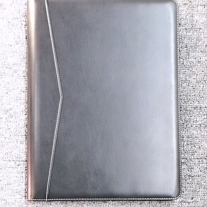 2019 Conference folder with notepadLeather A4 File Folder Document Holder For Business Meetings Office Supply