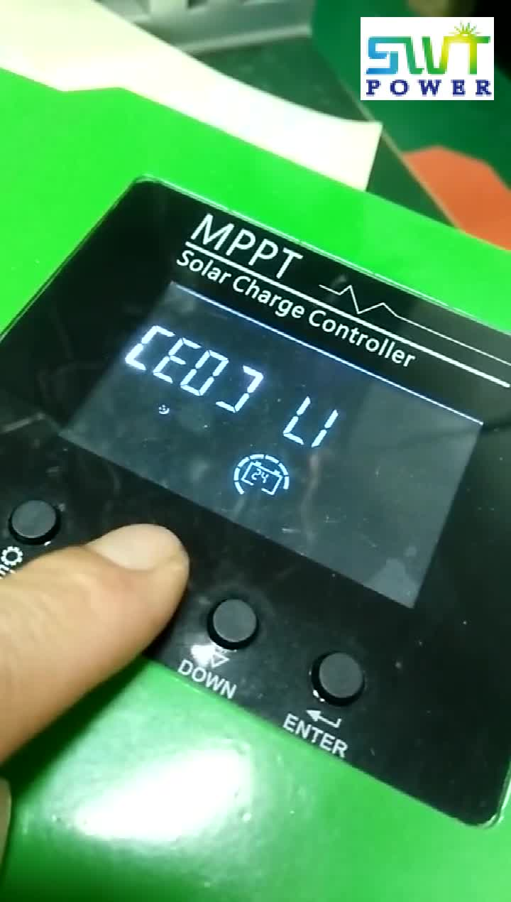 Solar charge controller with MPPT PWM 20A-100A 24/48/96V for solar inverter with solar power system