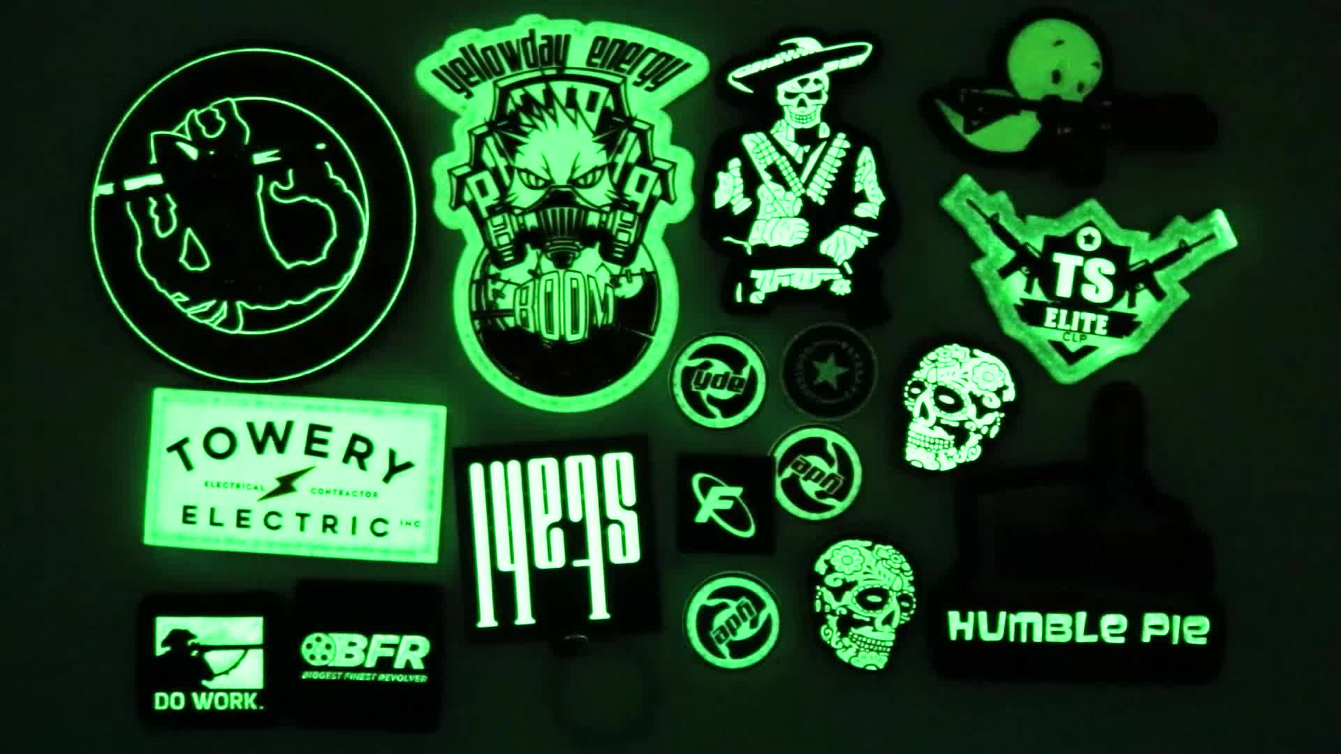 Custom 3D High Quality Glow In The Dark Soft Rubber PVC Patch
