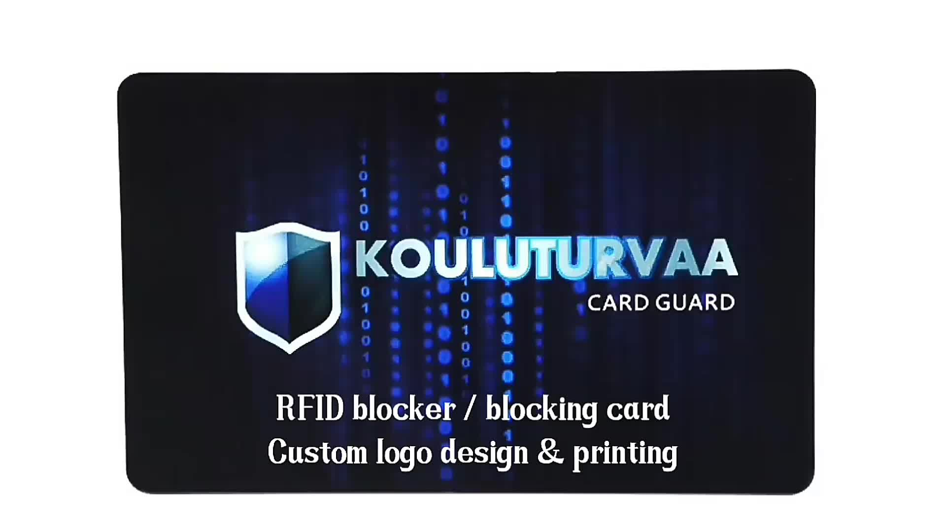 RFID Blocking Card block to protect credit card