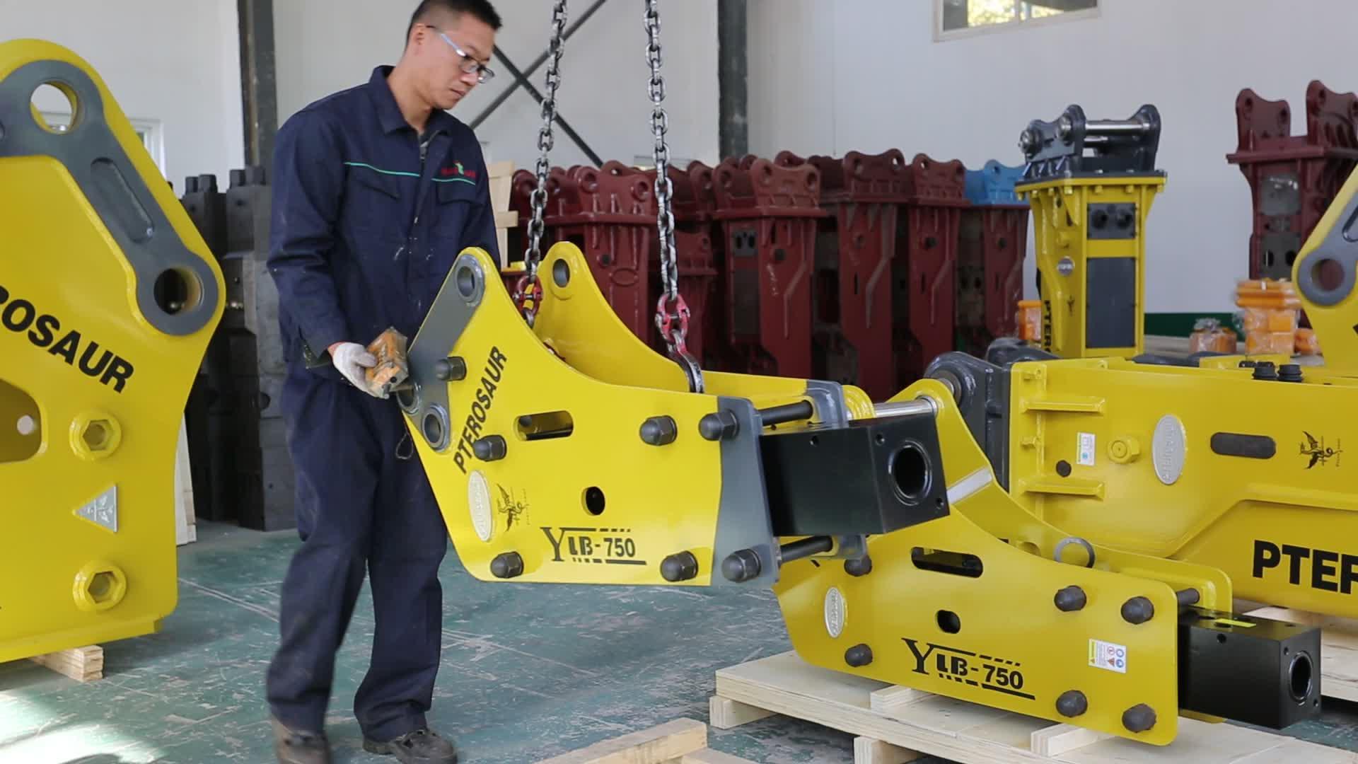 Yantai precio de fábrica coreano Soosan interruptor sb50 100mm cincel espaà a hidráulico para pc120 excavadora