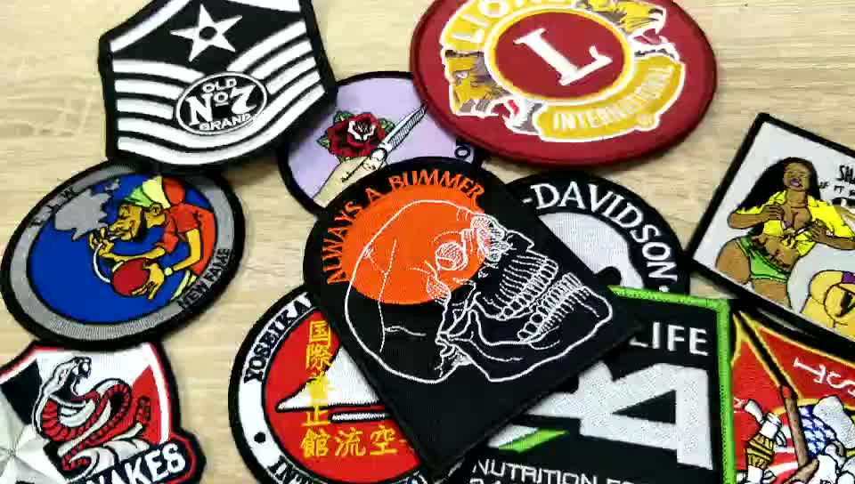 Custom service clothes embroidered patches no minimum, iron on embroidery patches for clothing