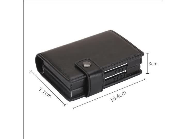 RFID Credit Card Holder Automatic Pop up Metal Card Case for Men and Women Holds 2 boxes